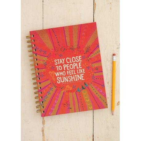 Spiral Notebook Close To Sunshine