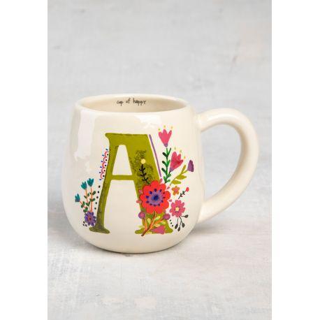 Initial Mug Floral A