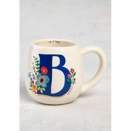 Initial Mug Floral B