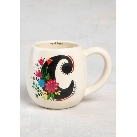 Initial Mug Floral C
