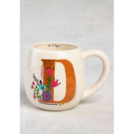 Initial Mug Floral D