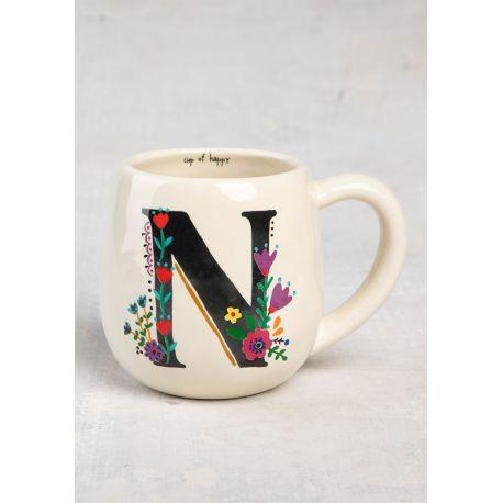 Initial Mug Floral N