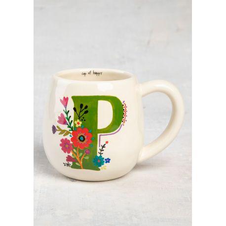 Initial Mug Floral P