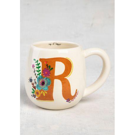 Initial Mug Floral R