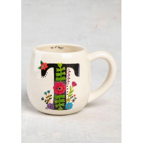 Initial Mug Floral T