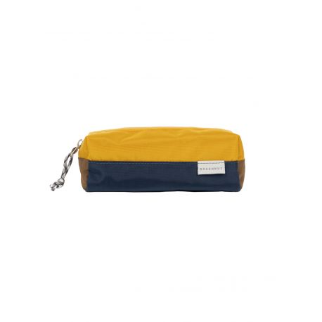 PEN CASE GLOSSY BLOCKING SERIES / NAVY X MUSTARD