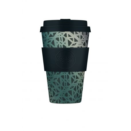 BAMBOO CUP WITH LID BLACKGATE 400ml
