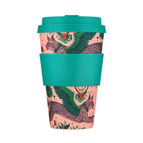 BAMBOO CUP WITH LID LYNX  400ml