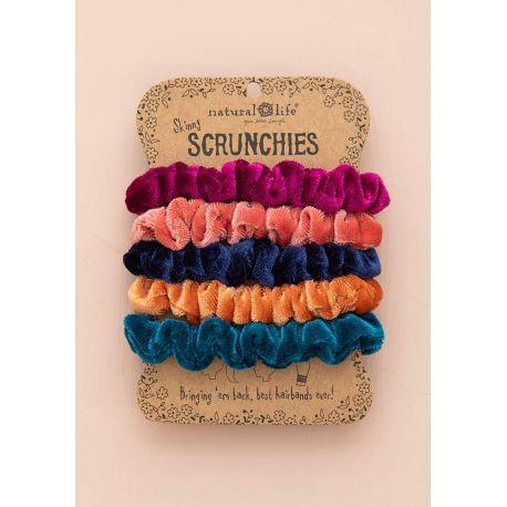 Velvet Scrunchies S/5 Brights
