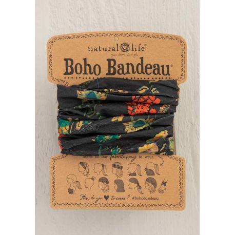 Boho Bandeau Charcoal Floral