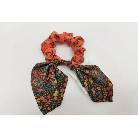 Mixed Print Tie Scrunchie Cor/Bl