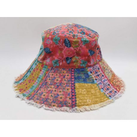 Patchwork Printed Bucket Hat