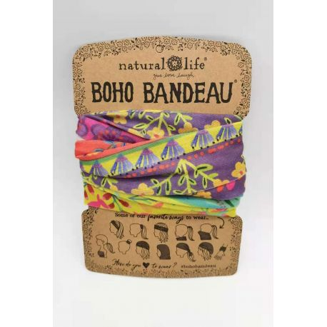 Boho Bandeau Lime/Purple Borders
