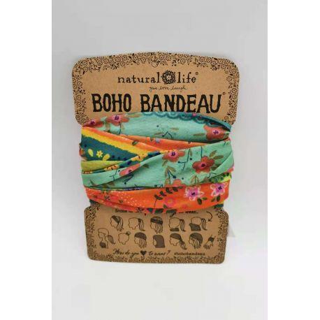 Boho Bandeau Orange/Green Borders