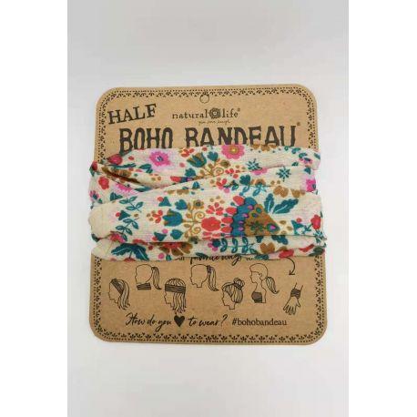 Half Bandeau Cream Floral Mandala