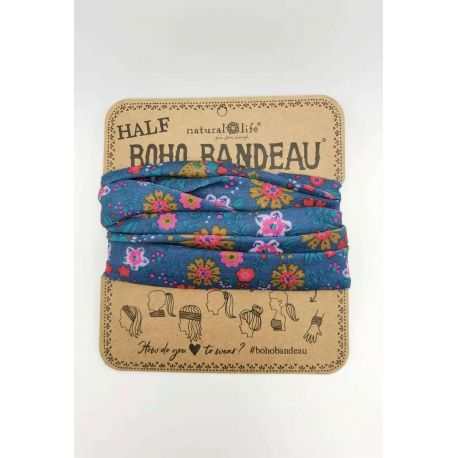 Half Bandeau Indigo Floral Mandala