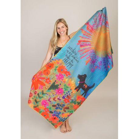 Micro Beach Towel Sunshine Shoulder