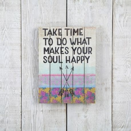 Wood Art 12x9 Take Time Soul