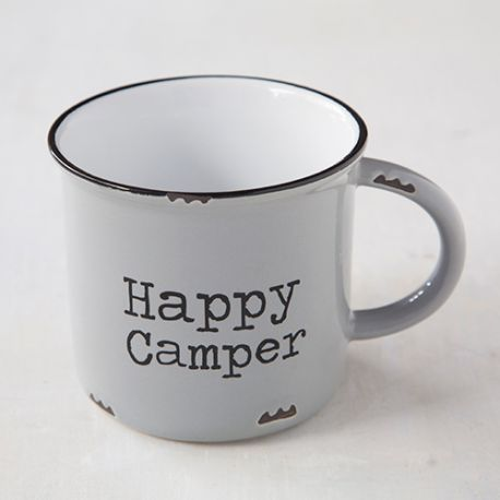 Camp Mug Happy Camper Grey