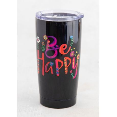 Water Tumbler Be Happy