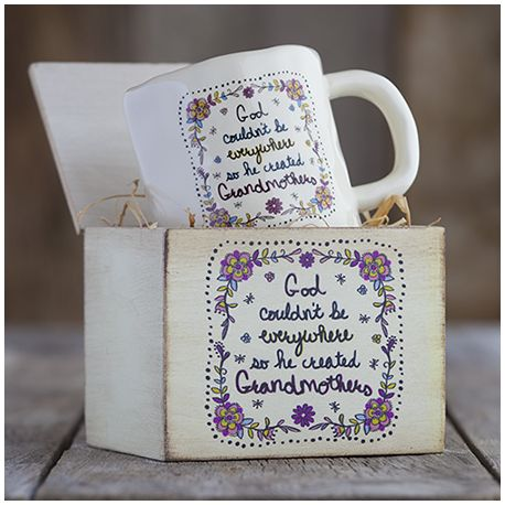 Give Love Mug God couldn't be everywhere so he created Grandmothers