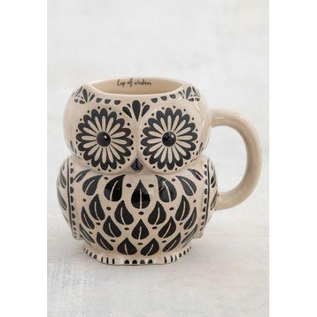 Folk Mug Wisdom Owl