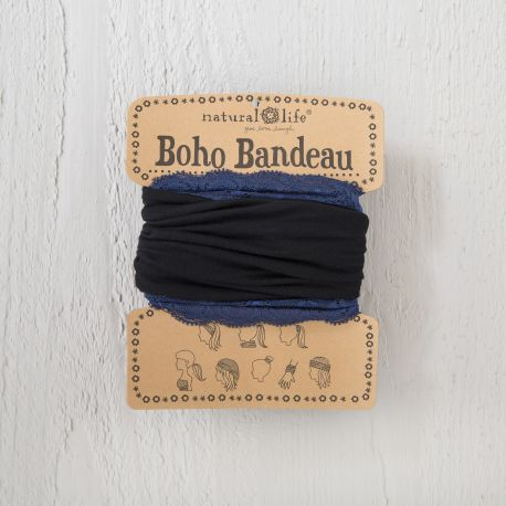 Lace Bandeau Black Navy