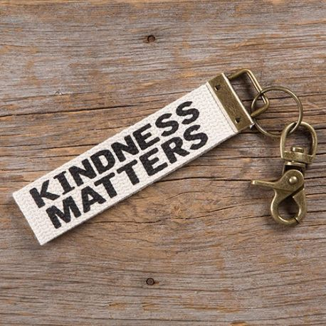 Canvas Key Fob Kindness Matters
