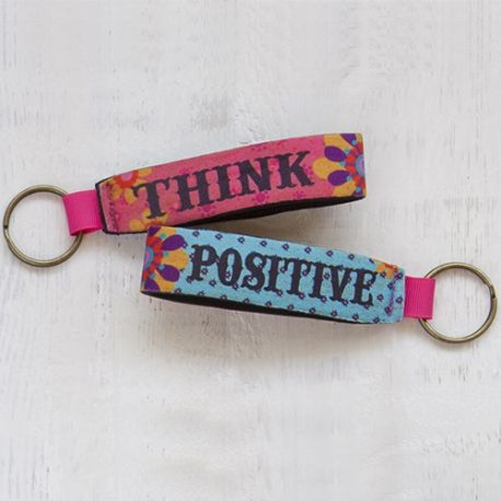Neoprene Key Fob Think Positive