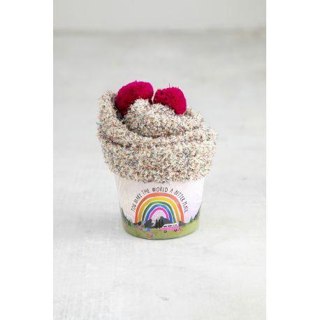 Cupcake Sock World Better Rainbow
