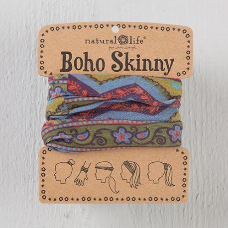 Boho Skinny Grey & Blue Zig Zaag