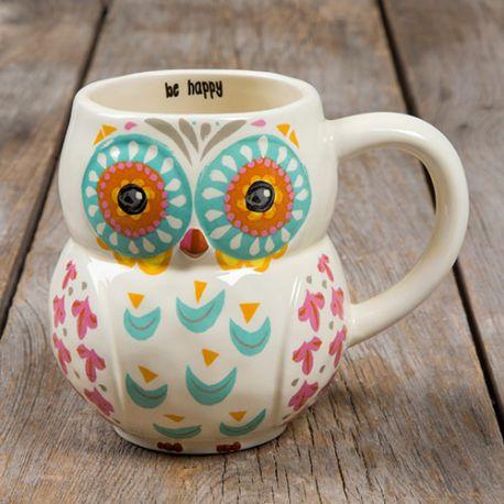 Owl Mug, Be Happy