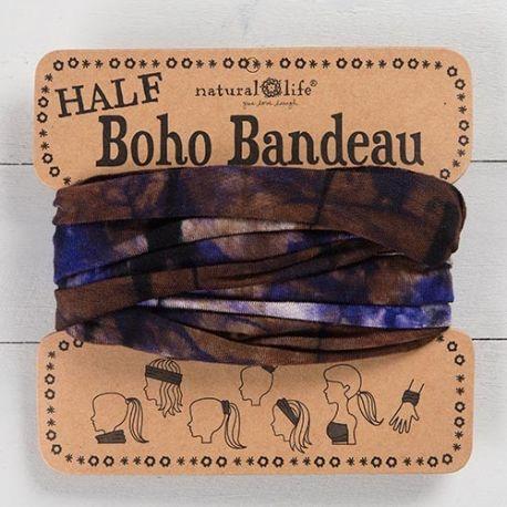 HALF BOHO BANDEAU PURPLE BROWN