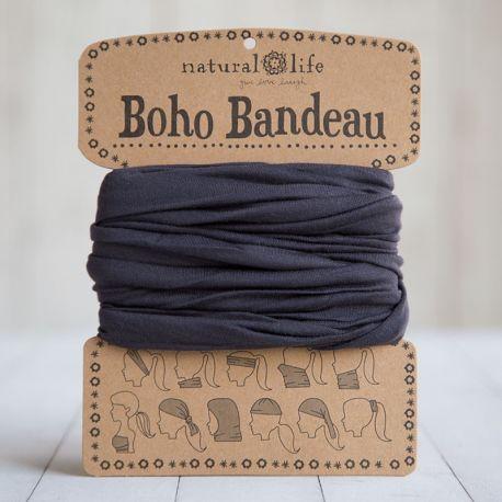 BOHO BANDEAU SOLID BLACK