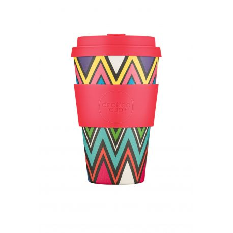 BAMBOO CUP WITH LID ZAG IN MEMORIUM 400ml