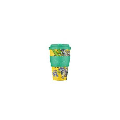 BAMBOO CUP WITH LID IRISES (VAN GOHG) 400ml