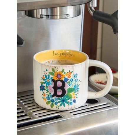 Initial Mug Floral Β