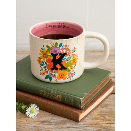 Initial Mug Floral K