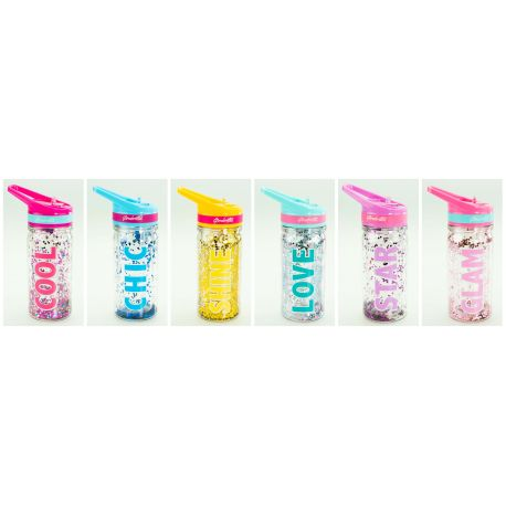 ECO  WATER BOTTLE WITH GLITTER