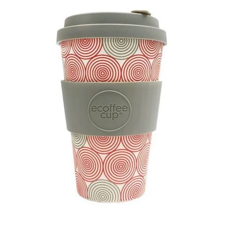 BAMBOO CUP WITH LID SWIRL 400ml