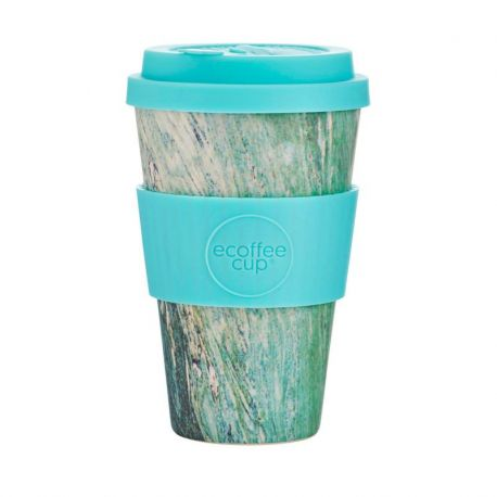 BAMBOO CUP WITH LID MARMO VERDE 400ml