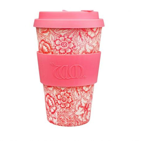 BAMBOO CUP WITH LID POPPY 400ml