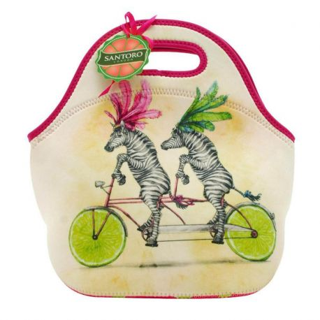 Fruity Scooty Lunch Bag  - Zebras