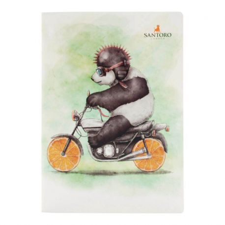 Fruity Scooty Large Notebook - Panda