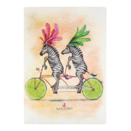 Fruity Scooty Large Notebook - Zebras