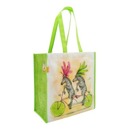 Fruity Scooty Shopper Bag - Zebras