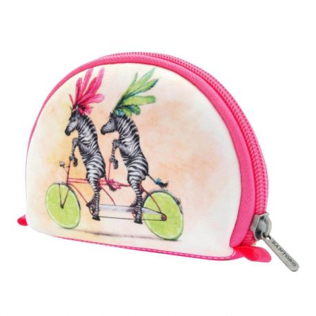 Fruity Scooty Neoprene Accessory Pouch - Zebras