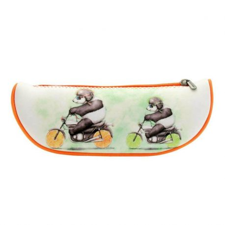 Fruity Scooty Large Fruit Slice Pencil Case - Panda