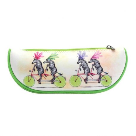 Fruity Scooty Large Fruit Slice Pencil Case - Zebras